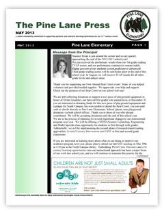 elementary newsletters